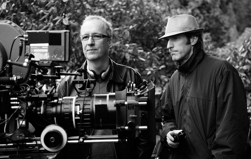 Director Michael Storey and Director of Photography Glenn Warner lining up a shot in Port Moody, British Columbia.